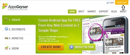 Как создать Android приложения для Вашего блога без программирования